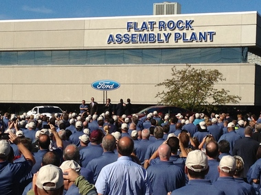 Ford renames Flat Rock plant following Mazda's exit; celebrates $555M investment for Fusion